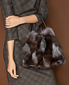 The Fur Vault Fox Fur Handbag