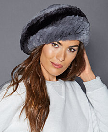 The Fur Vault Rabbit Fur Beret