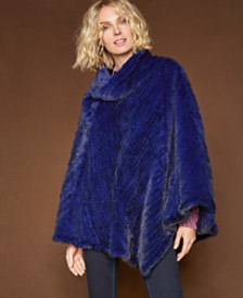 The Fur Vault Mink Fur Poncho