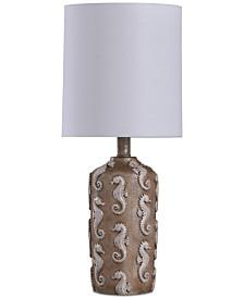 StyleCraft Seahorse Motif Mini Table Lamp