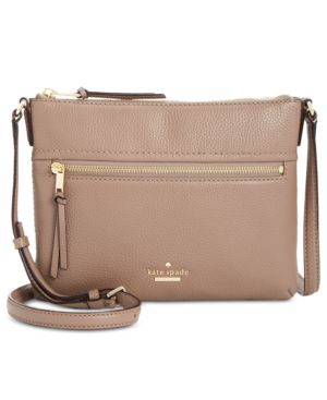 Jackson Street - Gabriele Leather Crossbody Bag - Brown, Brownstone