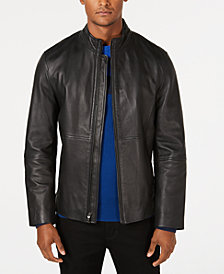 Alfani Men's Full-Zip Leather Jacket, Created for Macy's