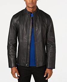 Alfani Men's Full-Zip Leather Jacket, Created for Macy's