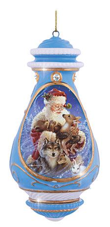 Precious Moments Santa With Animals Ornament