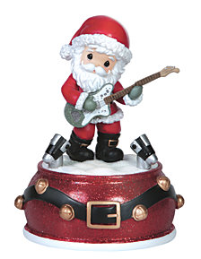 Precious Moments Santa Musical Music Box
