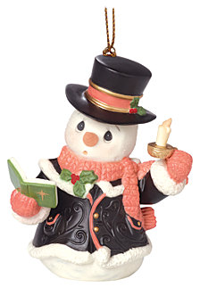 Precious Moments O Come All Ye Faithful 7th in Annual Snowman Series Ornament