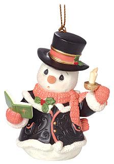 O Come All Ye Faithful 7th in Annual Snowman Series Ornament
