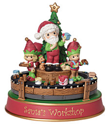 Santa's Workshop Deluxe Musical Figurine