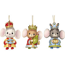 Precious Moments The Holidays Are Mice With You Set Of Three Ornaments