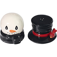 Precious Moments Snow Much Fun Snowman Salt And Pepper Shakers