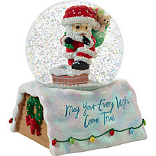 Precious Moments 10th Annual Santa Series May Your Every Wish Musical Snow Globe