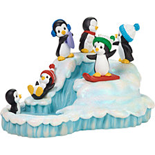Precious Moments Winter Wonderland Holiday Penguin Music Box