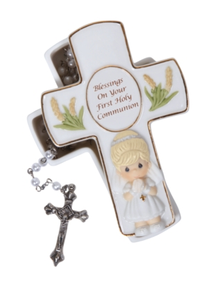 Blessings On Your First Holy Communion Box With Rosary Girl
