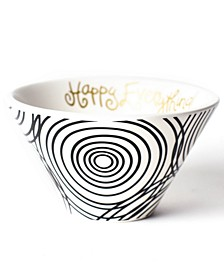 Happy Everything by Laura JohnsonCollection Black Hypno Mod Small Bowl