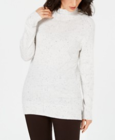Karen Scott Mock-Neck Shimmer Sweater, Created for Macy's