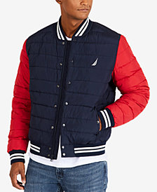 Nautica Men's Colorblocked Down Bomber Jacket