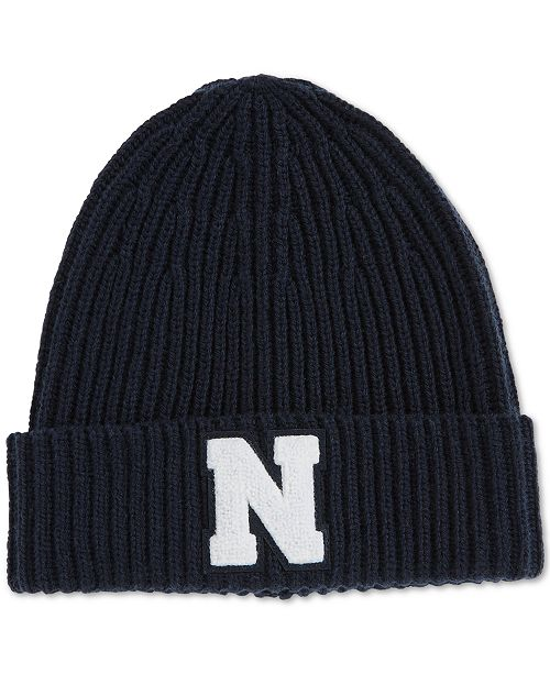 261f3399fd7 Nautica Men s Chunky Logo Patch Beanie   Reviews - Hats