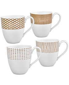 Hammock 4-Pc. Assorted Mug Set, Created for Macy's