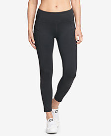 DKNY Sport Essential High-Rise Mesh-Inset Ankle Leggings, Created for Macy's