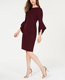 Vince Camuto Bell-Sleeve Sheath Dress