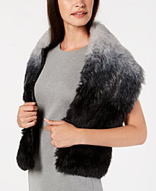 I.N.C. Ombré Faux-Fur Stole, Created for Macy's