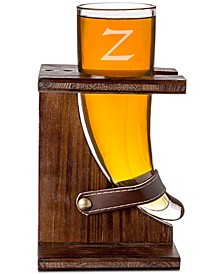 Personalized Glass Viking Beer Horn And Stand