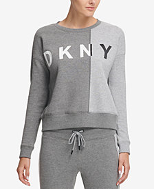 DKNY Sport Colorblocked Fleece Top, Created for Macy's