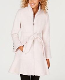 GUESS Belted Skirted Walker Coat