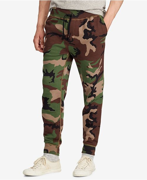 Polo Ralph Lauren Men's Camo Fleece Jogger Pants