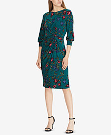 Lauren Ralph Lauren Petite Knotted Jersey Dress