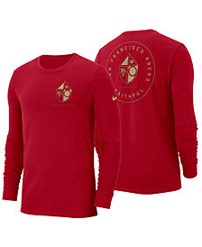 Nike Men's San Francisco 49ers Heavyweight Seal Long Sleeve T-Shirt
