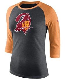 Nike Women's Tampa Bay Buccaneers Historic Logo Raglan T-Shirt