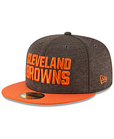New Era Boys' Cleveland Browns On Field Sideline Home 59FIFTY Fitted Cap