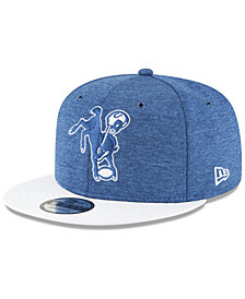 New Era Boys' Indianapolis Colts Official Sideline Home 9FIFTY Stretch Fitted Cap 2018
