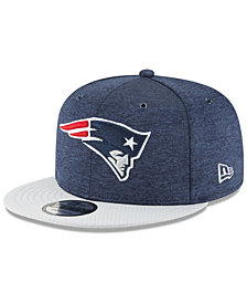 New Era Boys' New England Patriots Official Sideline Home 9FIFTY Stretch Fitted Cap 2018