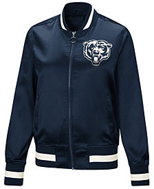 Touch by Alyssa Milano Women's Chicago Bears Touch Satin Bomber Jacket