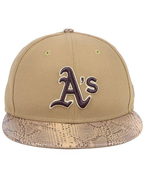7f8aa77c8 ... canada new era oakland athletics snakeskin sleek 59fifty fitted cap  sports fan shop by lids men