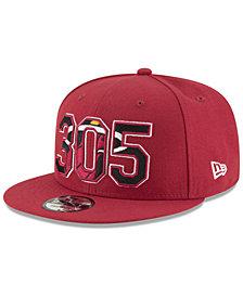 New Era Miami Heat Area Code 9FIFTY Snapback Cap