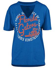Royce Apparel Inc Women's Florida Gators Cutout V-Neck T-Shirt