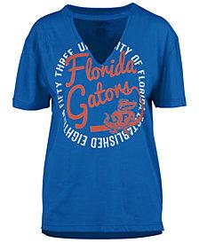 Royce Apparel Inc Women's Florida Gators Cutout V-Neck T-Shirt