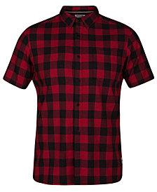 Hurley Men's Bison Plaid Shirt