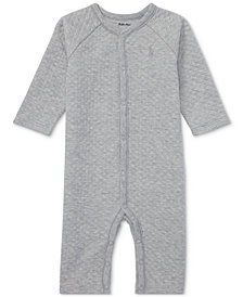 Ralph Lauren Baby Boys Quilted Jacquard Coverall