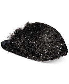 I.N.C. Fluffy Faux-Fur Scuff Slippers, Created for Macy's