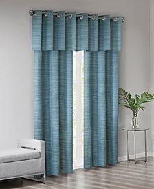 510 Design Pike Grasscloth Room Darkening Grommet 40 X 84 3 Pc Window Curtain Set