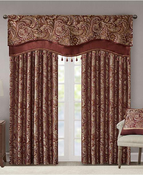 Madison Park Aubrey Paisley Faux Silk Curtain & Valance Collection