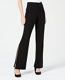 XOXO Juniors' Side-Slit Flared Pants
