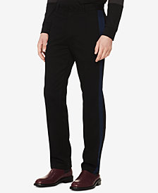 Calvin Klein Men's Slim-Fit Stretch Contrast Stripe Pants