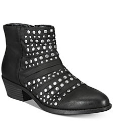 White Mountain Desire Studded Ankle Booties