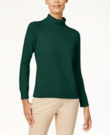 Karen Scott Cotton Turtleneck Sweater, Created for Macy's