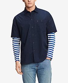 Tommy Hilfiger Denim Men's Sidney Oversized Striped-Sleeve Shirt
